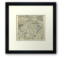 April 17 1945 World War II HQ Twelfth Army Group situation map Framed Print