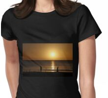Sunset Stroll Womens Fitted T-Shirt