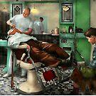 Barber - Shave - Pennepacker's barber shop 1942 by Mike  Savad