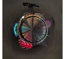 Planet Glasgow at Night Photographic Print