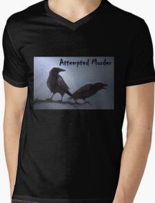 Crows - attempted murder Mens V-Neck T-Shirt