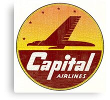 Capital Airlines Canvas Print
