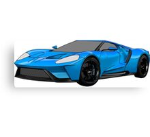 2016 Ford GT, Forza 6 Motorsport Game Cover Car, Black with Blue colour Fill Canvas Print