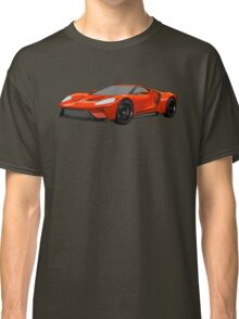 2016 Ford GT, Forza 6 Motorsport Game Cover Car, Black with Red colour Fill Classic T-Shirt