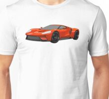 2016 Ford GT, Forza 6 Motorsport Game Cover Car, Black with Red colour Fill Unisex T-Shirt