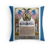 Unique Abraham Lincoln Emancipation Proclamation  Throw Pillow