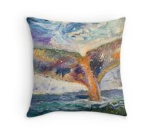 Whale Tail Colorful Throw Pillow