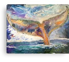 Whale Tail Colorful Metal Print