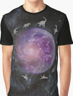Dinosaurs in Space Graphic T-Shirt