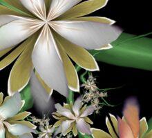 Silk Flowers Making Poetry At Night Sticker