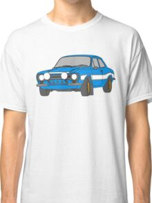 1970 Ford Escort RS2000 Fast and Furious Paul Walker's car Black Outline Colour fill. Classic T-Shirt