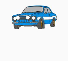 1970 Ford Escort RS2000 Fast and Furious Paul Walker's car Black Outline Colour fill. Unisex T-Shirt