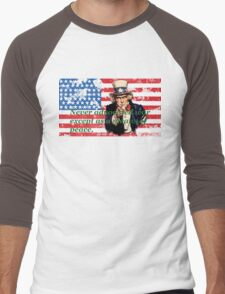Vote 2016 - Never advocated war except as a means of peace. Men's Baseball ¾ T-Shirt