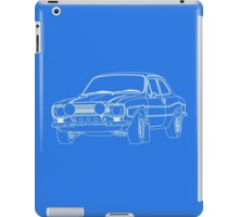 1970 Ford Escort RS2000 Fast and Furious Paul Walker's car White Outline no fill. iPad Case/Skin