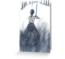 Rey in Snow Greeting Card