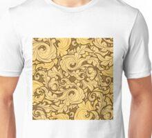 Golden Leaves Pattern Unisex T-Shirt