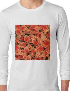 Flame Pattern Long Sleeve T-Shirt