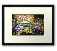Sydney NYE Fireworks 2015 # 14 Framed Print