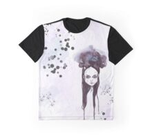 Wednesday Addams - dark watercolor portrait Graphic T-Shirt