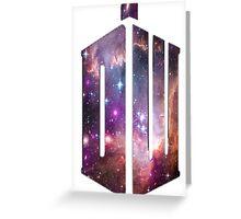 Doctor Who Nebula Greeting Card