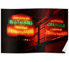 Nathan's, Coney Island Poster