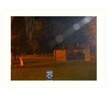 Savannah~Rare Light Shaft with Orbs Descending at Cemetery Art Print