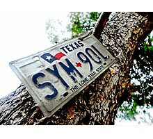 Placas de Texas en Mexico Photographic Print