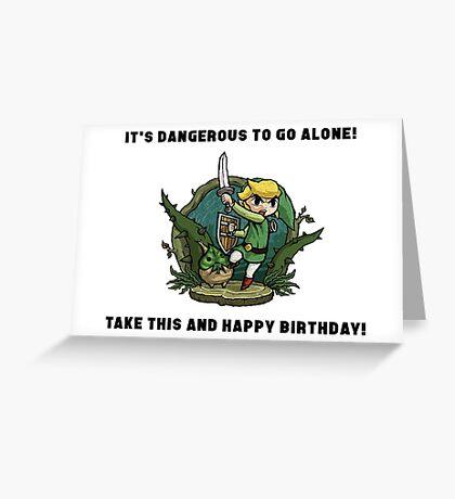 Zelda Birthday Card Greeting Card
