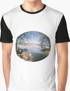 river shot with a Fisheye camera Graphic T-Shirt