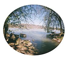 river shot with a Fisheye camera Photographic Print