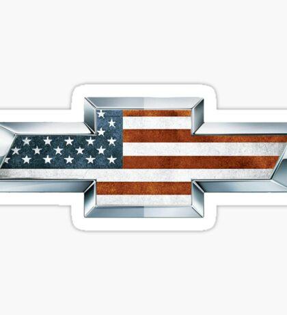 Chevrolet American Flag Logo Sticker