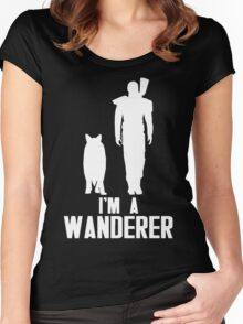 I'm A Wanderer (White) Women's Fitted Scoop T-Shirt