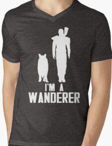 I'm A Wanderer (White) Mens V-Neck T-Shirt