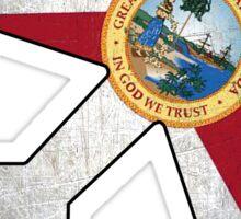 Florida flag airplane outline Sticker