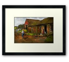 Farm - Life on the farm 1940s Framed Print