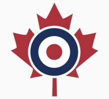 Canadian Maple Leaf Roundel Kids Tee