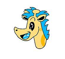 Psycho Giraffe Photographic Print