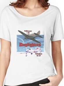Dogfighters: I-16 vs Ki-27 Women's Relaxed Fit T-Shirt