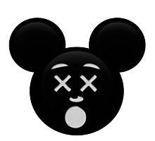 Micky Emoji - Dead Photographic Print