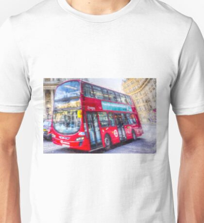 London Bus Art Unisex T-Shirt