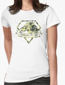 Diamond Camouflage Womens Fitted T-Shirt