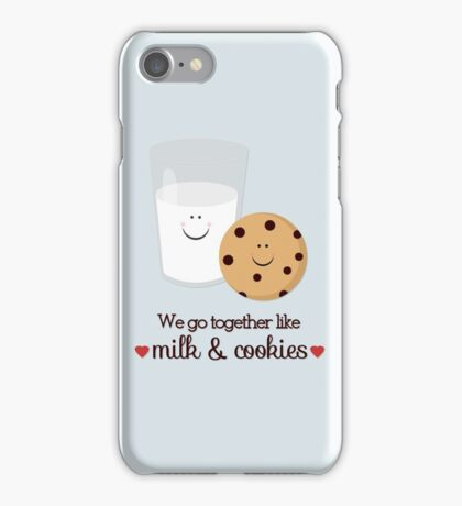 We Go Together Milk and Cookie iPhone Case/Skin