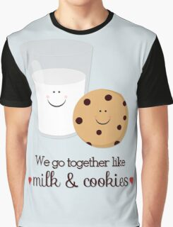 We Go Together Milk and Cookie Graphic T-Shirt