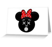 Minnie Emoji - Dead Greeting Card