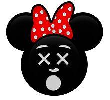 Minnie Emoji - Dead Photographic Print