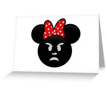 Minnie Emoji - Angry Greeting Card