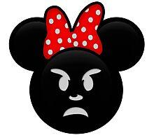 Minnie Emoji - Angry Photographic Print