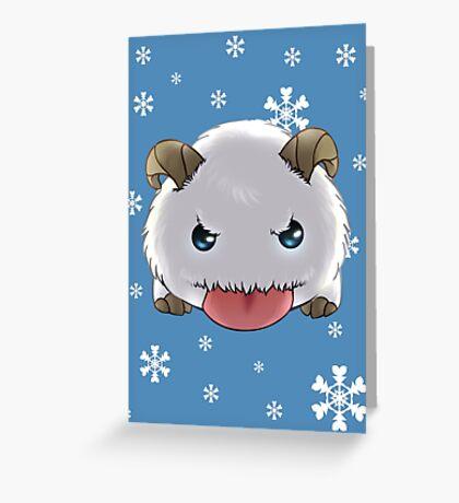 Winter Poro Greeting Card