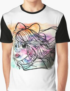 Rainbow Ribbon Little girl Graphic T-Shirt