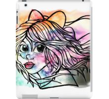 Rainbow Ribbon Little girl iPad Case/Skin